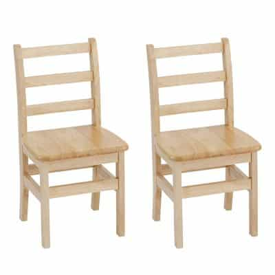 ECR4Kids Wooden Chair with Ladder Back Design