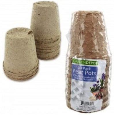 Garden Depot Biodegradable Peat Pots