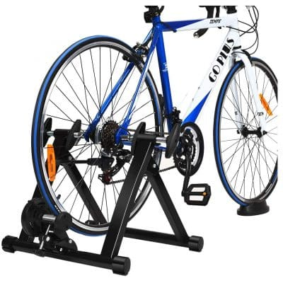 Goplus Indoor Steel Bike Trainer Stand for 26 to 28 inches Wheels