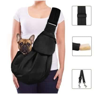 Lukovee Pet Sling, Hand Free Dog Sling Carrier