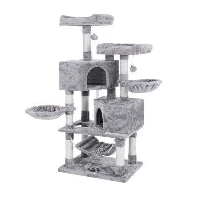BEWISHOME Cat Tree with Sisal Scratching Posts