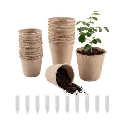 Cosweet Peat Pots, 100% Eco-Friendly (50 Pcs)