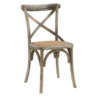 Modway Wooden Chair; Gray