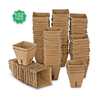 ANGTUO Peat Pots Kit with 20 Plant Markers