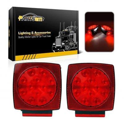 Partsam 12V Waterproof LED Trailer Light
