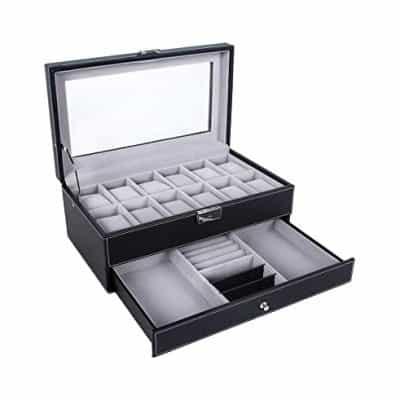 SONGMICS Watch Box Organizer