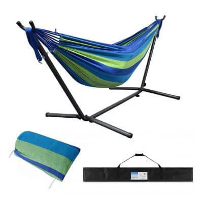 Huacmoet 550lbs 2 Person Heavy Duty Portable Hammock Stand