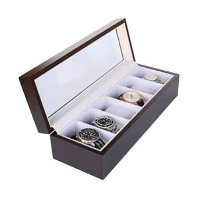 Solid Wood Watch Box Organizer