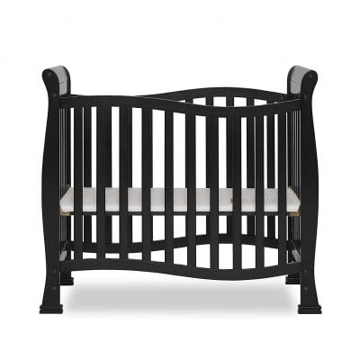 Dream On Me, Black Violet Mini Baby Crib