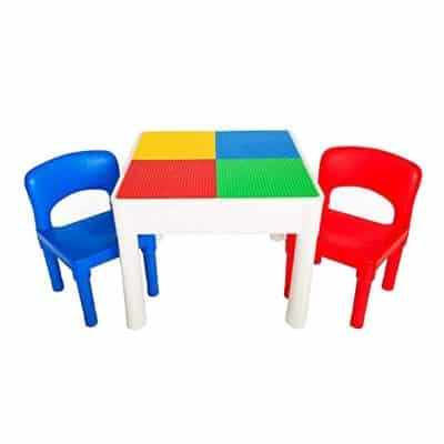 PlayBuild Kids 4 in 1 Play and Build Table Set