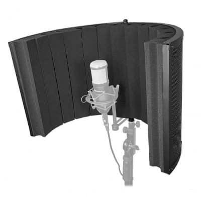 Rockville Large Studio Mic Isolation Shield Booth