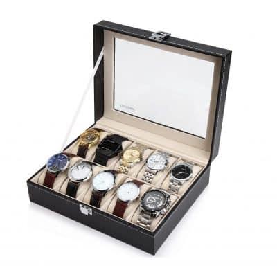 Readaeer 10 Watch Box Organizer