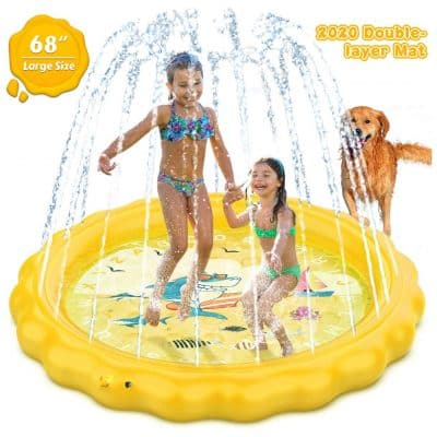 Dillitop Sprinkler Splash Pad for Kids