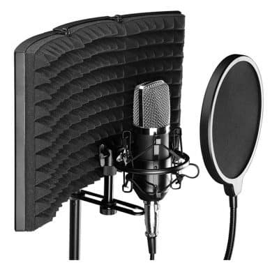 Cjc Professional Microphone Isolation Shield Mic Sound Absorbing Foam