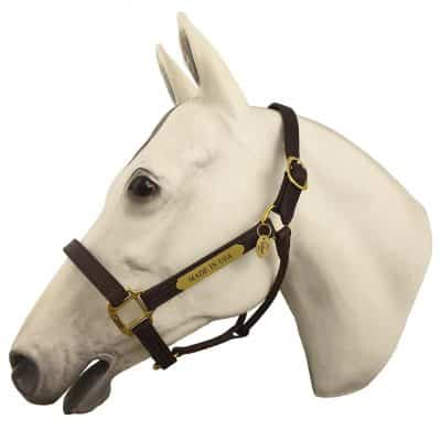 Horse Fare Products Fixed Leather Halter