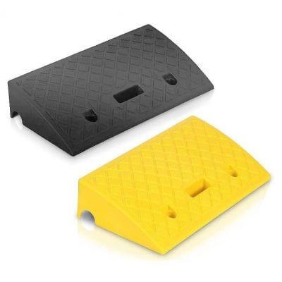 Pyle Portable Lightweight Plastic Curb Ramp 2 Pieces
