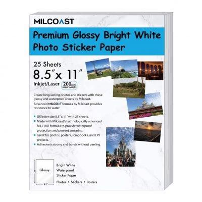 Milcoast Waterproof Photo Paper - 25 Sheets