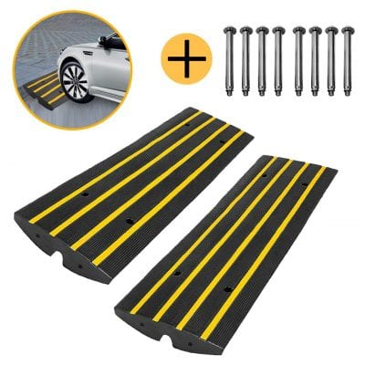 ScinoTec Rubber Curb Ramps 2.5 Inches 10 Ton Capacity