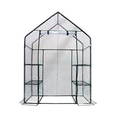 Homewell Walk-In Greenhouse 3 Tier 56 x 29 x 77 Inches