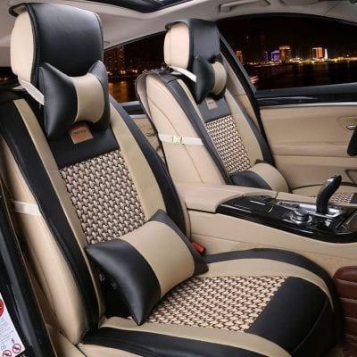 FREESOO Car Seat Cover PU Leather 5 Seats