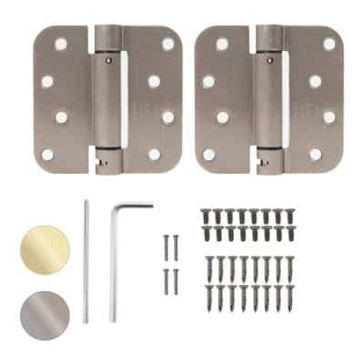 Houseables Self-Closing Door Hinges 4 x 4 Inches Pack of 2