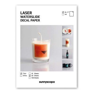 Sunnyscopa Waterslide Paper for LASER Printers