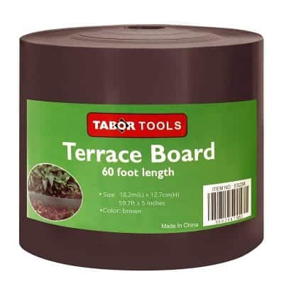 TABOR TOOLS 5 Inches x 60Ft Edging Coil