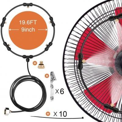 HONYOU Fan Outdoor Misting Cooling Kit