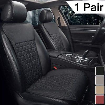 Black Panther 1 Pair PU Car Seat Cover Protectors