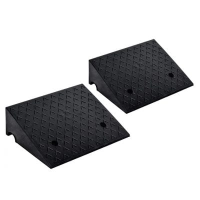 Goplus 2 Pieces Rubber Car Curb 6 Inches Rise