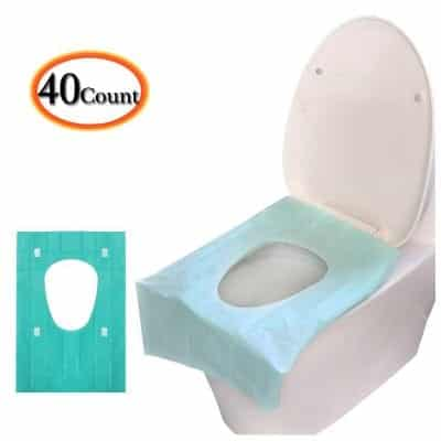 Luckiplus 40 Pieces Large Disposable Toilet Seat Potty Covers