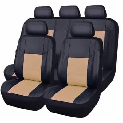 CAR PASS Skyline PU Leather Car Seat Cover