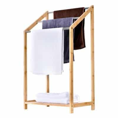ToiletTree Products Bamboo Towel Drying Rack