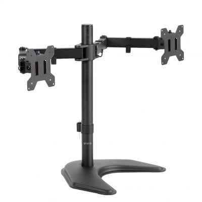 """VIVO Dual Monitor Stand for Two Screens up to 27"""""""