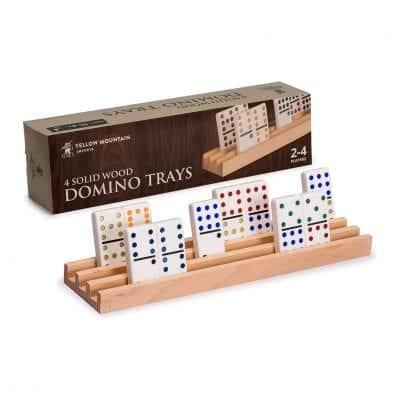 Yellow Mountain Imports Premium Beechwood Domino Racks