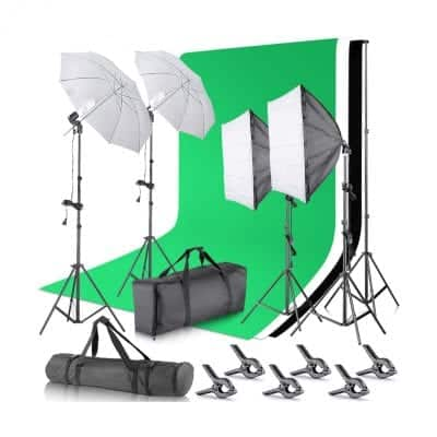 Neewer Background Support System and Continuous Lighting Kit