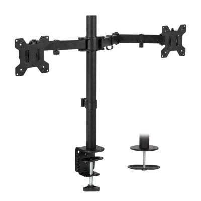 Mount-It! Dual Monitor Stand with 2 Heavy-Duty and Adjustable Arms