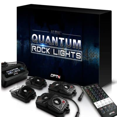 OPT7 LED Rock Lights 4 Pieces with Remote Dimmer