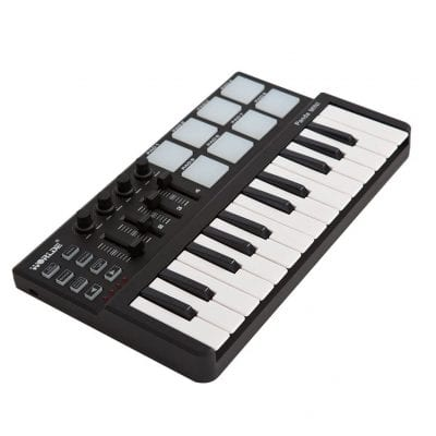 Ammoon Worlde Panda Mini Portable 25-Key USB Keyboard MIDI Controller