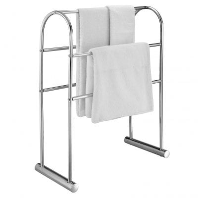 MyGift Chrome Plated 5 Bars Towel Stand Organizer 32 Inches