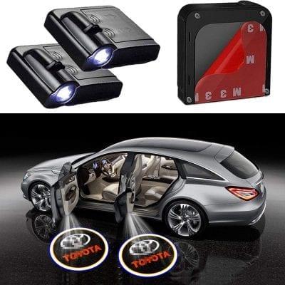 Noveltys 2Pcs Car Door Lights for Toyota Car Models