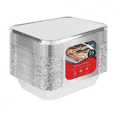 Stock Your Home Foil Pans with Lids 9x13 Aluminum Pans with Covers