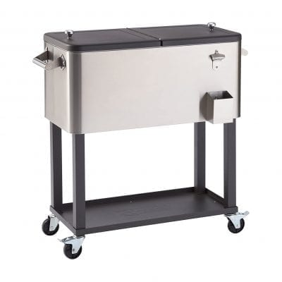 TRINITY Stainless Steel Outdoor Patio Cooler with Stand