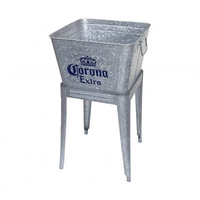 Leigh Country 42 Qt. Galvanized Steel Tub with Stand (Silver)