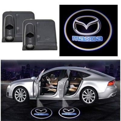 SIMO 2Pcs Car Door Logo Light for Mazda Cars
