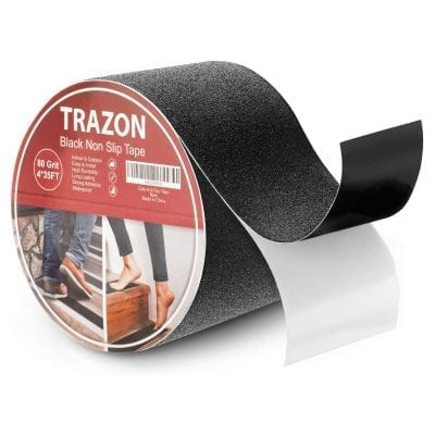 Trazon Heavy-Duty Grip Tape for Outdoor and Indoor Use, Black