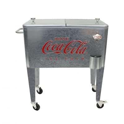 Leigh Country 60 Quart Galvanized Rolling Cooler