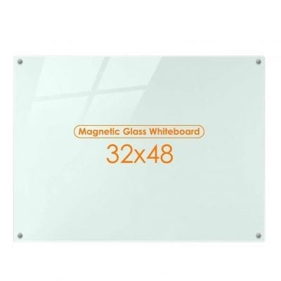 Maxtek Magnetic Glass Whiteboard for Interactive Office