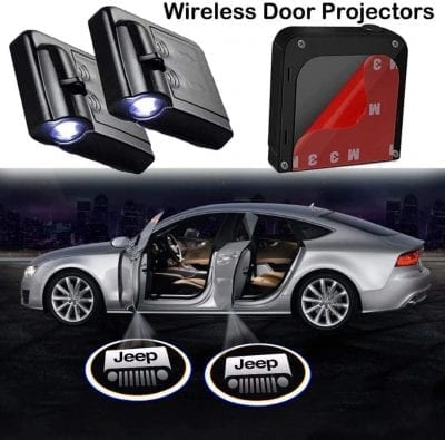 JSW 2Pcs Car Door Lights Logo Projector