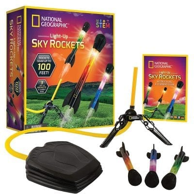 NATIONAL GEOGRAPHIC Air Rocket Toy with Launcher